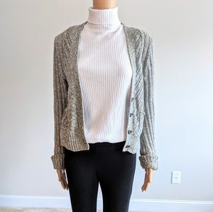 Free people small petite button front sweater